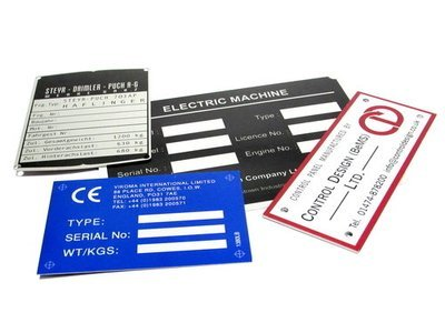 50 of 50 x 75mm Metal Labels