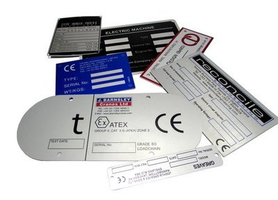 50 of 75 x 100mm Metal Labels