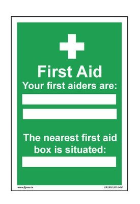 400 x 600mm First aider sign