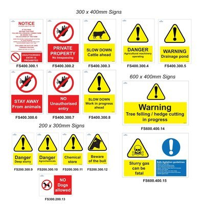 Farm Safety Sign Pack
