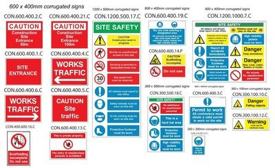 Construction safety sign pack
