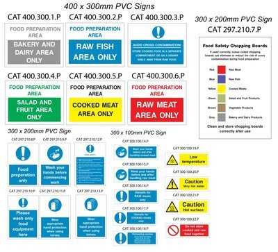 Catering Safety Sign Pack
