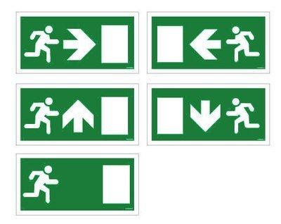 400 x 200mm Fire exit internal sign