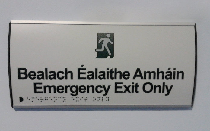 350 x 104mm Curved Modular Door Sign (Including braille font)