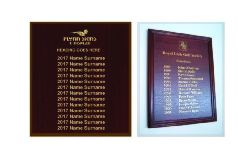 800 x 1000 mm Traditional Rectangle Honours Board with frame