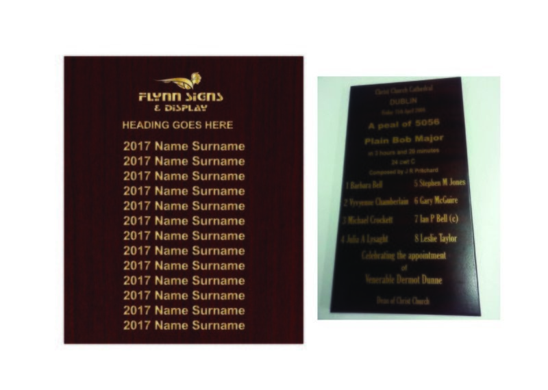 800 x 700 mm Traditional Rectangle Honours Board no frame