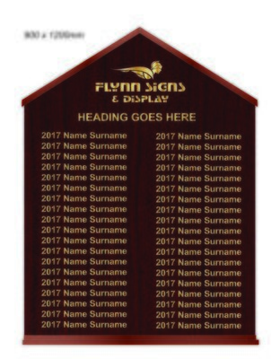 900 x 1200 mm Traditional Apexed Honours Board