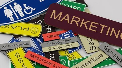 300 of 1.5mm engraved laminate 150 x 100mm  labels (€5.52 each)