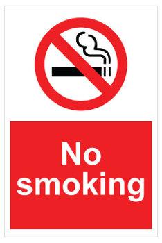 450 x 600mm No smoking sign