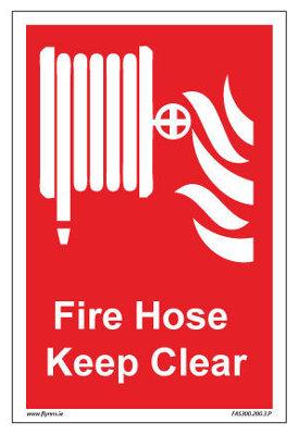 400 x 600mm Fire hose keep clear sign