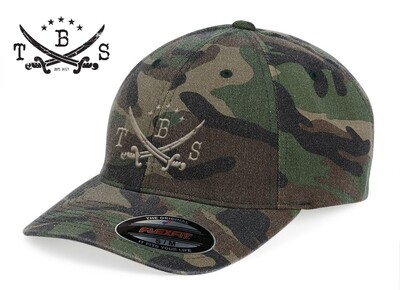 TBS Sabre Logo Camo Cap by Flexfit - LIMITED RUN