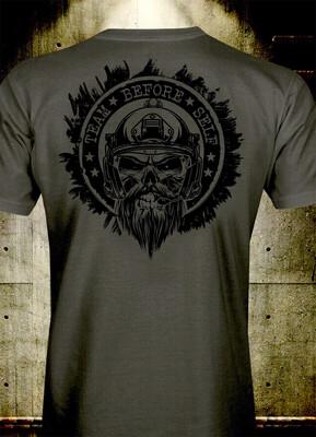 TBS Bearded Goon Murdered Out Logo T-Shirt