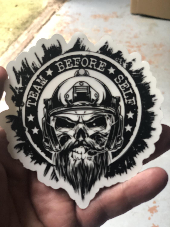 "TBS 4"" Murdered out Bearded Goon"
