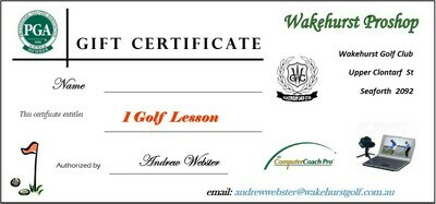 PGA Golf Lesson Voucher