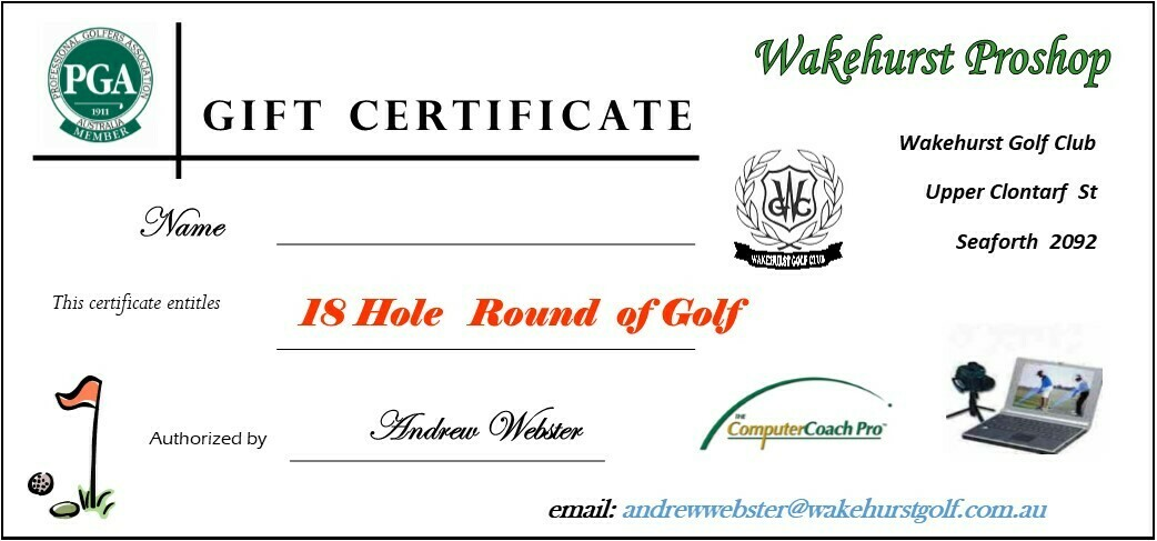 18 Holes Round of Golf Voucher