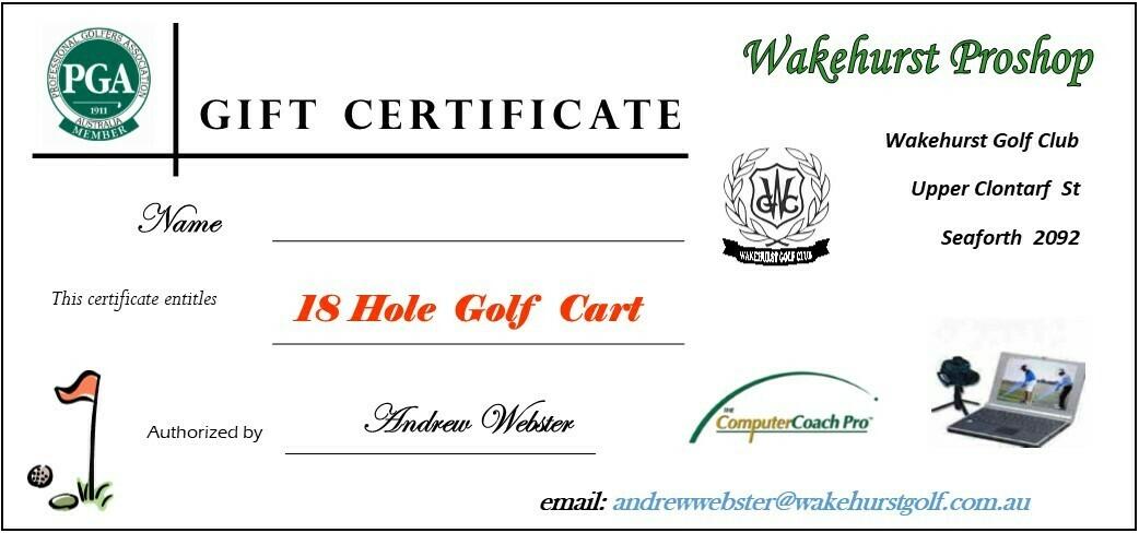 18 Holes Golf Cart Hire