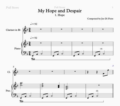 My Hope and Despair Sheet Music