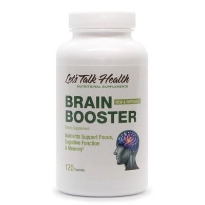 בריין בוסטר - נוסחה ייחודית ומקיפה לשיפור תפקוד המוח והזיכרון | Brain Boster , 120vc -  Let'sTalkHealth