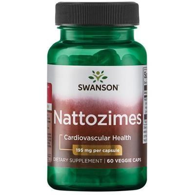 נאטוזים 195, 60 כמוסות: לתמיכה בבריאות הלב וכלי הדם | Triple Strength Nattozimes, 195mg, 60c - Swanson Vitamins