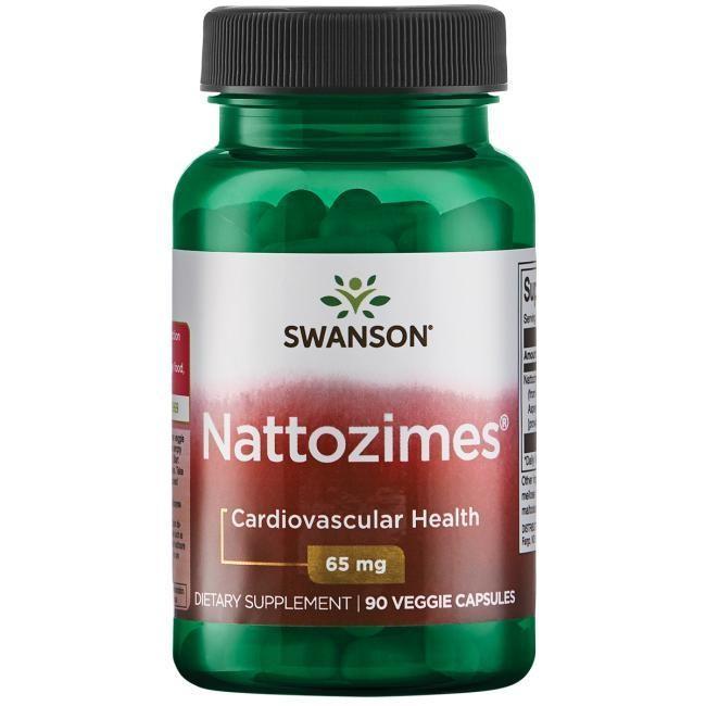נאטוזים 65 , 90 כמוסות: לתמיכה בבריאות הלב וכלי הדם | Nattozimes 65, 90vc  - Swanson Vitamins