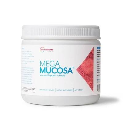 מגה מוקוזה לחידוש ריריות מערכת העיכול 30 מנות - בטעם פטל לימון |  Mega Mucosa 30 servings - Microbiome Labs