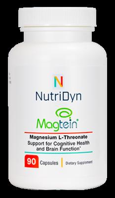 מאגטיין- מגנזיום אל טראונט -תמיכה בבריאות קוגניטיבית ותפקוד המוח | Magtein : Magnesium L-Threonate : 90 capsules - Nutridyn