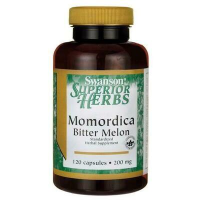 ממורדיקה מלון מר | Momordica Bitter Melon (Standartized) 120c 200mg - Swanson Vitamins