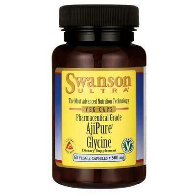 גליצין 60 כמוסות טבעוניות | Ajipure Glycine 500mg 60vc Vegeterian Source - Swanson