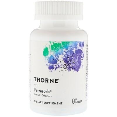 פרסורב - ברזל וויטמיני B פעילים בתוספת ויטמין C בפורמולה לבניית דם | Ferrasorb 60vc - Thorne Research