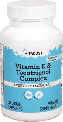 ויטמין E שמונה מרכיבים - עם קומפלקס טוקוטריאנול וטוקופרול | Vitamin E & Tocotreinol Complex 60 capsules - Vitacost