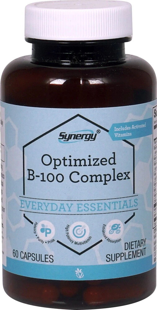 B-100 Synergy, 60 capsules  - Vitacost Synergy