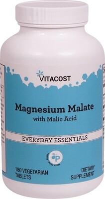 מגנזיום מאלאט 180 טבליות | Magnesium Malate 180 vc - Vitacost