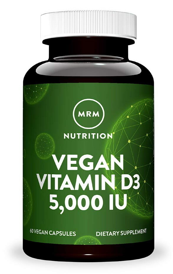 "ויטמין D3 טבעוני - 5000 יחב""ל, 60 כמוסות | Vegan D3 5000 - MRM"