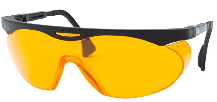 משקפיים כתומות לאיזן השינה - האורגינליות שנבדקו על ידי קונסיומר ריפורטס | Skyper Blue Light Blocking Computer Glasses with SCT-Orange Lens - Uvex