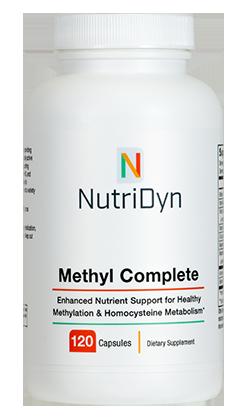 מתיל קומפליט- לתמיכה בויסות רמות ההומוציסטאין ולבריאות לב וכלי דם | Methyl Complete 120 capsules - Nutridyn