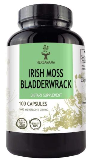Irish Moss, Sea Moss and Bladderwrack 1600 mg 100c