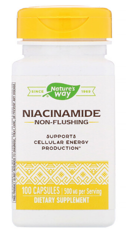 "ניאצינאמיד 500 מ""ג 100 קפסולות 