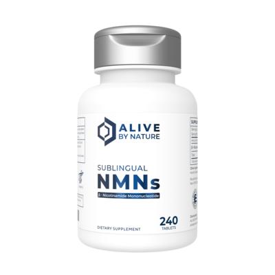 240 טבליות NMNs תת לשוניות נמסות בפה  בטעם לימון טבעי   NMN – 240 ct Sublingual Tablets - AliveByNature