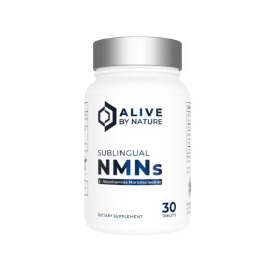 30 טבליות NMNs תת לשוניות נמסות בפה בטעם לימון טבעי   NMNs, 30 ct Sublingual Tablets - AliveByNature