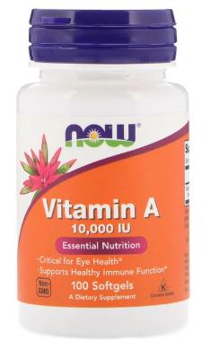 Vitamin A 10,000 IU 100sg - Now