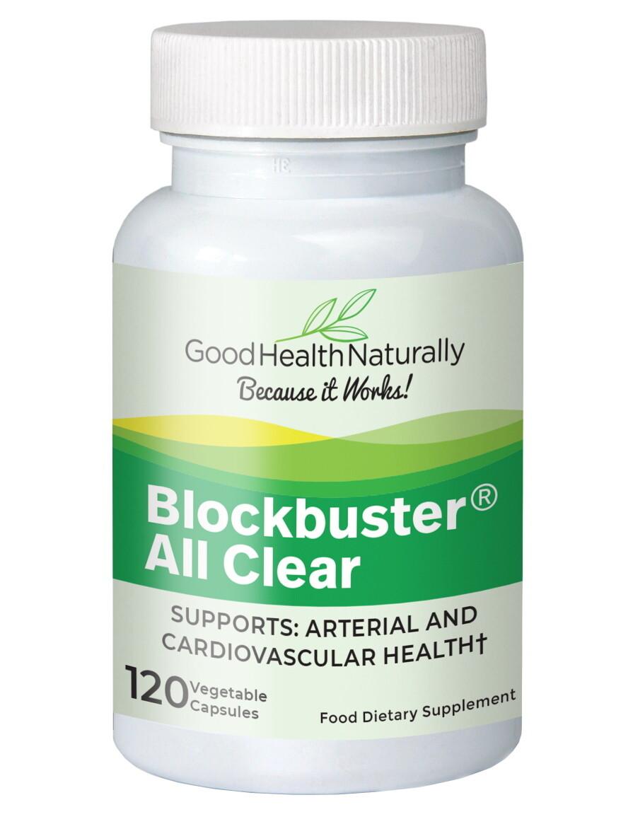 בלוקבסטר אולקליר - ניקוי כלי הדם והגנה היקפית. 120 כמוסות | Blockbuster AllClear 120c - Good Health Naturally