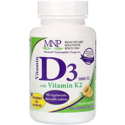 ויטמין D3 עם K2 כשר למציצה, בטעם אפרסק טבעי שילדים אוהבים, 5000 יחב
