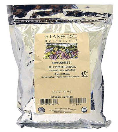 Organic kelp powder 453.6g - אבקת אצות ים