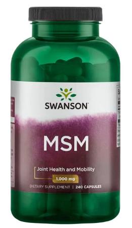 MSM 1,000 mg 240 Caps - Swanson