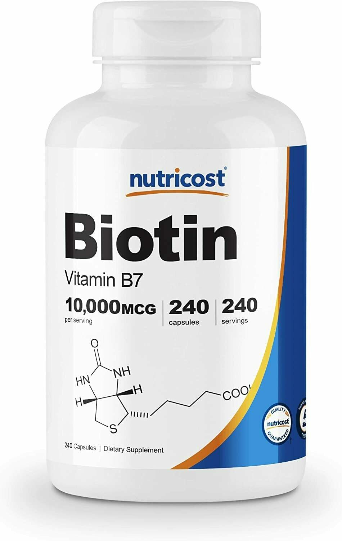 Biotin 5000, 60vc, Non-GMO , Kosher - Nutricost
