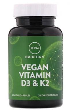 ויטמין D3 + K2 טבעוני - 2,500 יחב