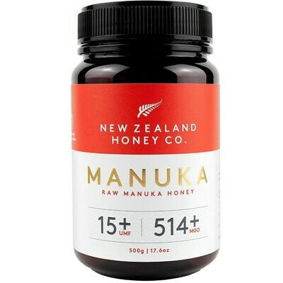 דבש מאנוקה - הדבש הניו-זילנדי המקורי. ריכוז UMF 15+ MGO514+. | Manuka Honey UMF 15+ 500g - New Zealand Honey Co