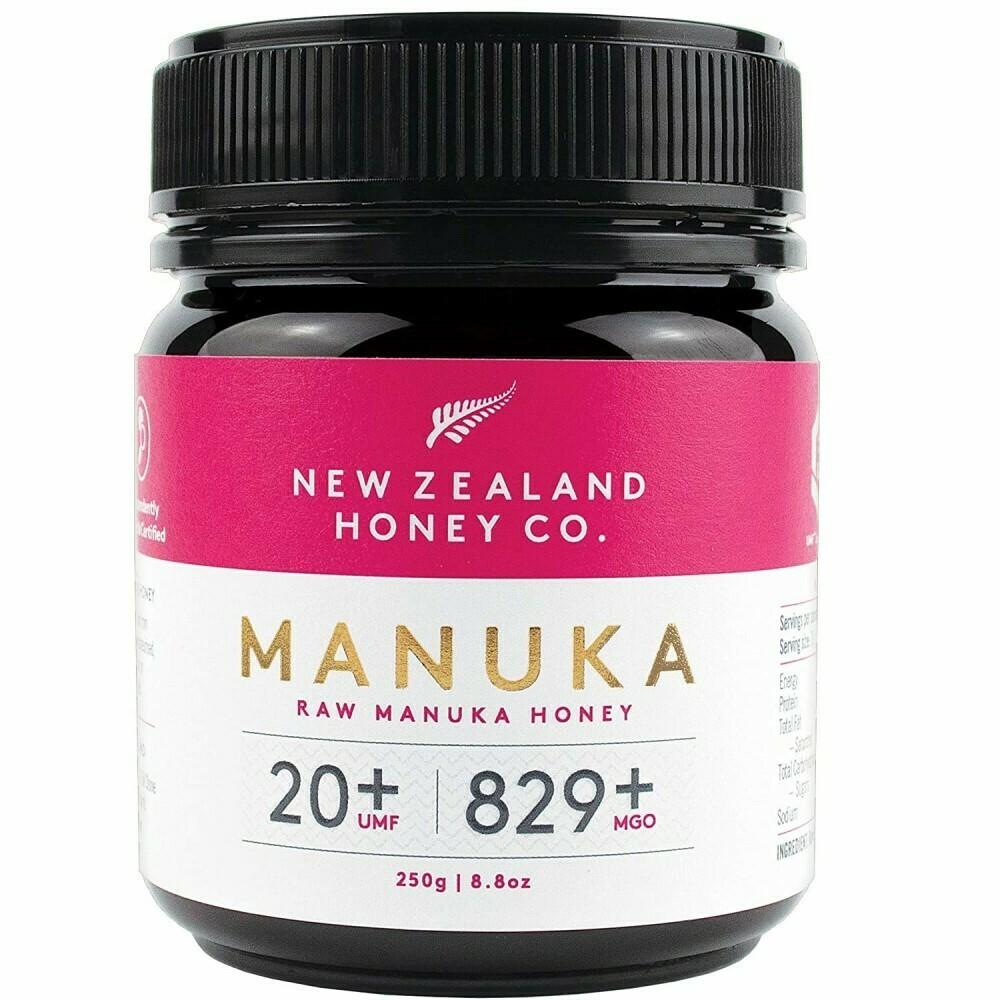 דבש מאנוקה - הדבש הניו-זילנדי המקורי. ריכוז UMF 20+. MGO 829+ | Original Manuka Honey - UMF 20+, MGO 829+, 250g