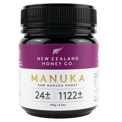 דבש מאנוקה - הדבש הניו-זילנדי המקורי. ריכוז UMF 24+. MGO 1122+ | Manuka Honey UMF 24+ 250g - New Zealand Honey Co