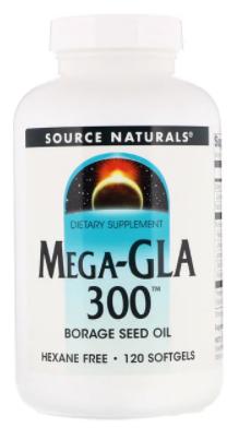 Mega GLA 300 120c - Source Naturals